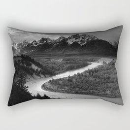 Ansel Adams - The Tetons and Snake River Rectangular Pillow