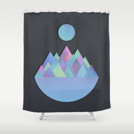 Moon Peaks Alternative Shower Curtain