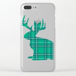Lumberjackalope (Light Green) Clear iPhone Case