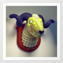 Taxidermy 3: Sheepish Art Print