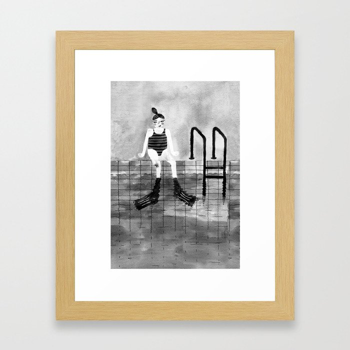 One day I'll travel to an imaginary place Framed Art Print