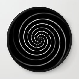 Licorice Swirl Wall Clock