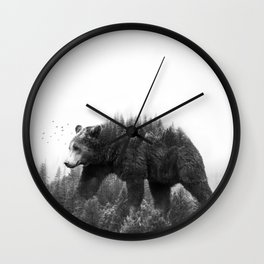 Walking trough the forest Wall Clock