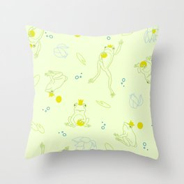 The Frog Prince Throw Pillow