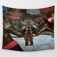 lobster Wall Tapestries featuring Lobster by DanByTheSea