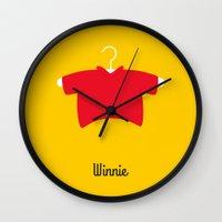 winnie the pooh Wall Clocks featuring Winnie by Jane Mathieu