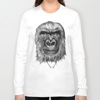 gorilla Long Sleeve T-shirts featuring Gorilla  by Кaterina Кalinich