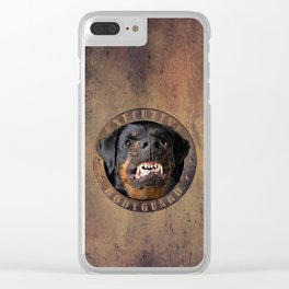Executive bodyguard Angry rottweiler iPhone 4 5 6 7 8 x, pillow case, mugs and tshirt Clear iPhone Case