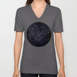 Owl Constellation Unisex V-Neck