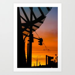 Prague's Dancing House Sunset Art Print