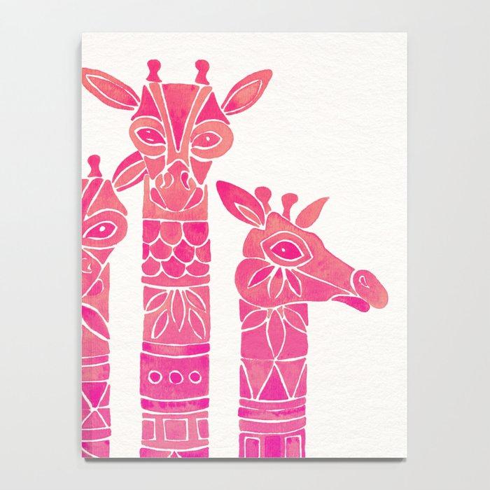 Giraffes – Pink Ombré Notebook