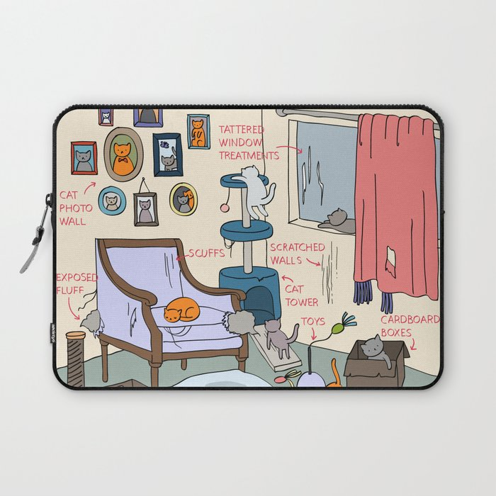 Cat Lady's Home Laptop Sleeve