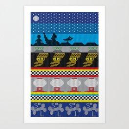 MSTie Sweater Art Print