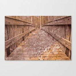 Acrylic Sepia Bridge Canvas Print
