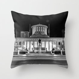 Columbus State House Long Exposure Throw Pillow