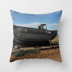 Boat off Course Throw Pillow