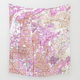 Vintage Map of Orange California (1964) Wall Tapestry