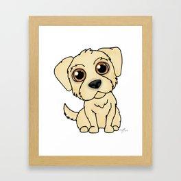 Golden Retreiver Dog Framed Art Print