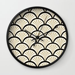 Art-deco abstract flowers pattern Wall Clock