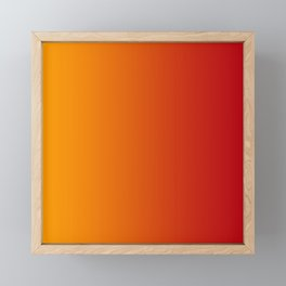 Red Orange Gradient Framed Mini Art Print