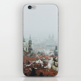 Cold Mornings over Prague iPhone Skin
