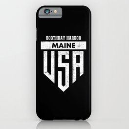 Boothbay Harbor Maine iPhone Case