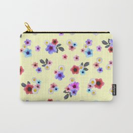 Spring Floral Meadow Carry-All Pouch