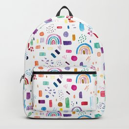 Watercolor cute colorful rainbow pattern Backpack
