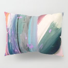 Eye of the Beholder [4]: a colorful, vibrant abstract in purples, blues, orange, pink, and gold Pillow Sham
