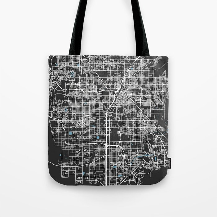 Las Vegas Map Nevada | Black & Blue | More Colors, Review My Collections Tote Bag