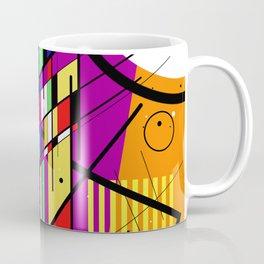 Crazy Retro 2 - Abstract, geometric, random collage Coffee Mug