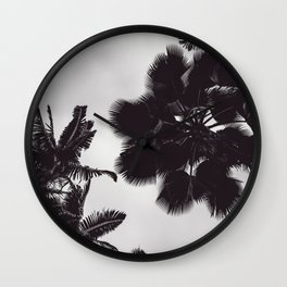 Jungle Canopy - Black and White Wall Clock