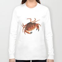 crab Long Sleeve T-shirts featuring Crab by Trinity Mitchell