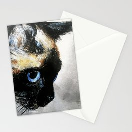 Siamese Cat Right Side Tapestry Stationery Cards