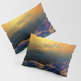 Sonnenuntergang über der Insel Pillow Sham