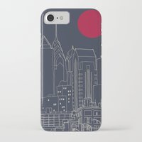 blueprint iPhone & iPod Cases featuring Philly Blueprint by ralexandertrejo