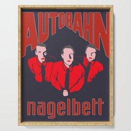 Autobahn Techno-pop Band Nagelbett Album, The Dude Artwork for Tshirts Poster Serving Tray