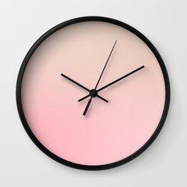 FOUNDATION CREAM - Minimal Plain Soft Mood Color Blend Prints Wall Clock