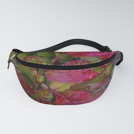 Evergreen Autumn Red Branch Fanny Pack