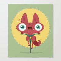 bicycle Canvas Prints featuring Bicycle by Maria Jose Da Luz