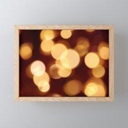 Gold and Dark Red Bokeh Photography Framed Mini Art Print