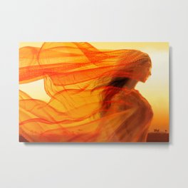 Fires of the Desert Metal Print