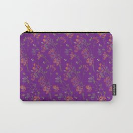 Poppy Floral - Purple Carry-All Pouch
