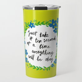 Ten Seconds - Lime Travel Mug