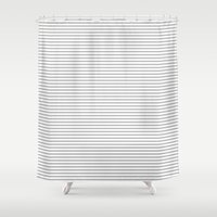 gray pattern Shower Curtains featuring Gray Stripes Pattern by Allyson Johnson