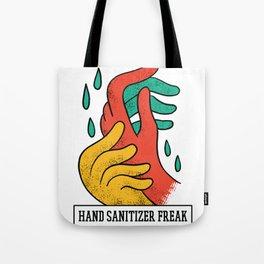 HAND SANITIZER FREAK ART DESIGN Tote Bag