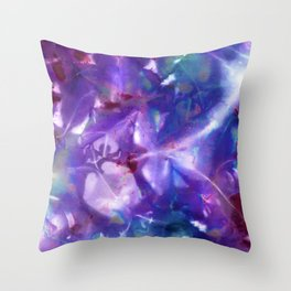 Blue Stargazer Floral Throw Pillow