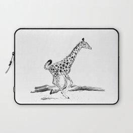 Baby Giraffe Running Laptop Sleeve