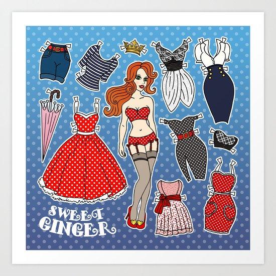 Sweet Ginger Art Print