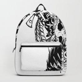 Indian chief , skull art , custom gift design Backpack